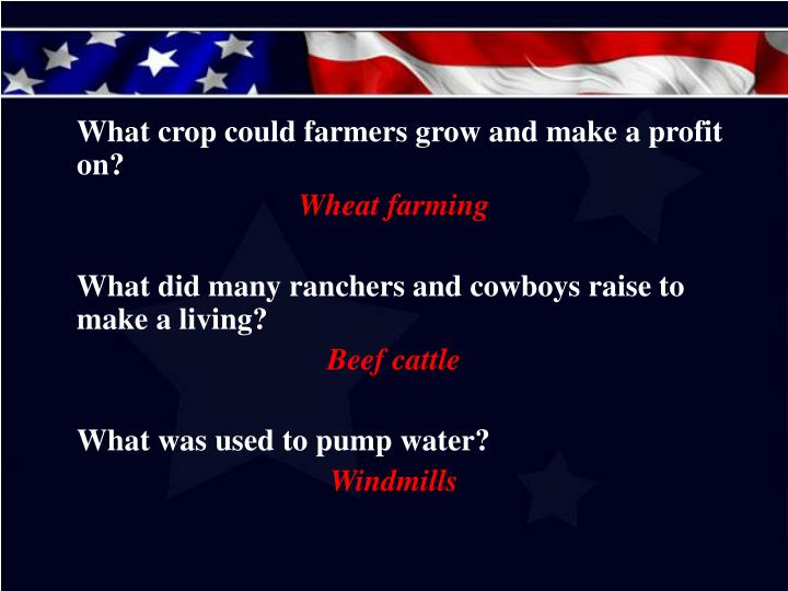 What crop could farmers grow and make a profit on?