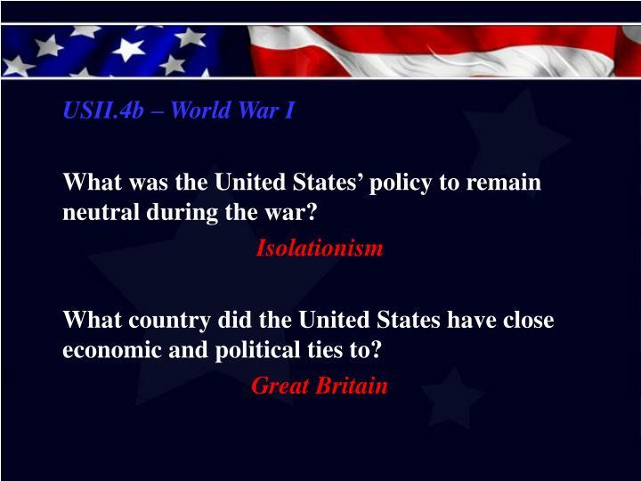 USII.4b – World War I