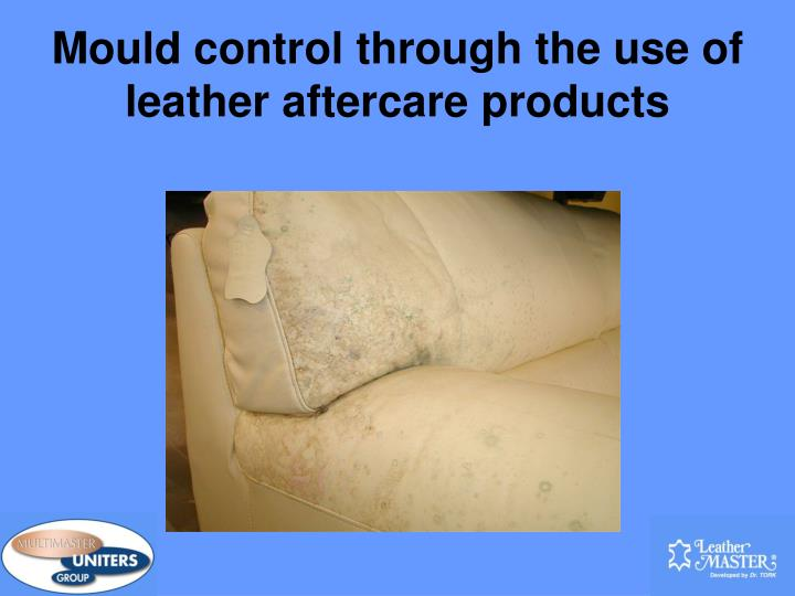mould control through the use of leather aftercare products n.