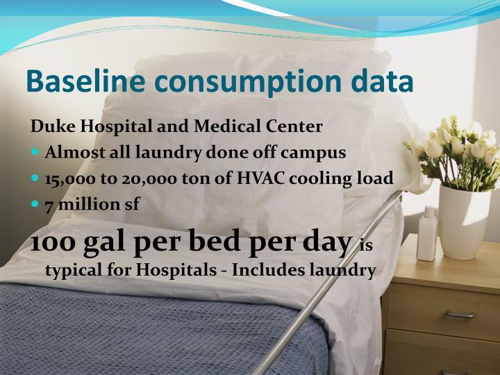 Baseline consumption data