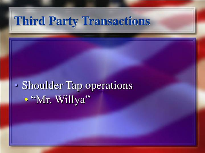 Third Party Transactions
