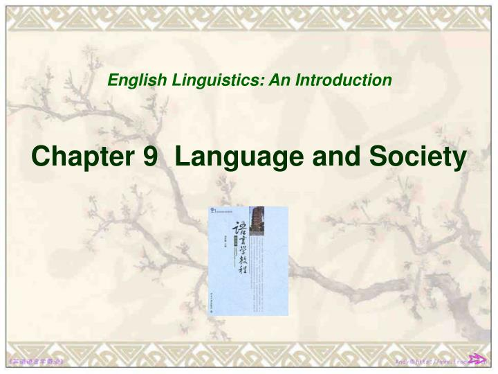 chapter 9 language and society n.
