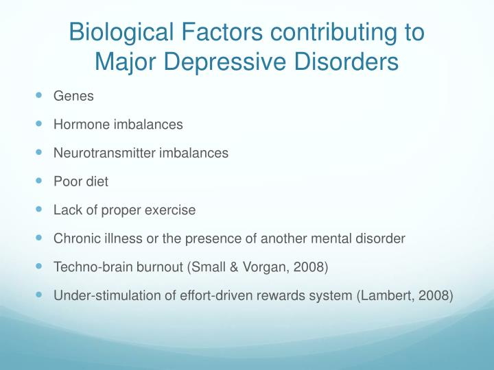 factors that contribute to the mental The roots of mental illness  behavioral and social factors that contribute to mental illness may be overlooked by over-focusing on the biological,.