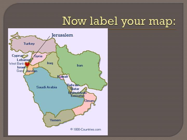 Now label your map: