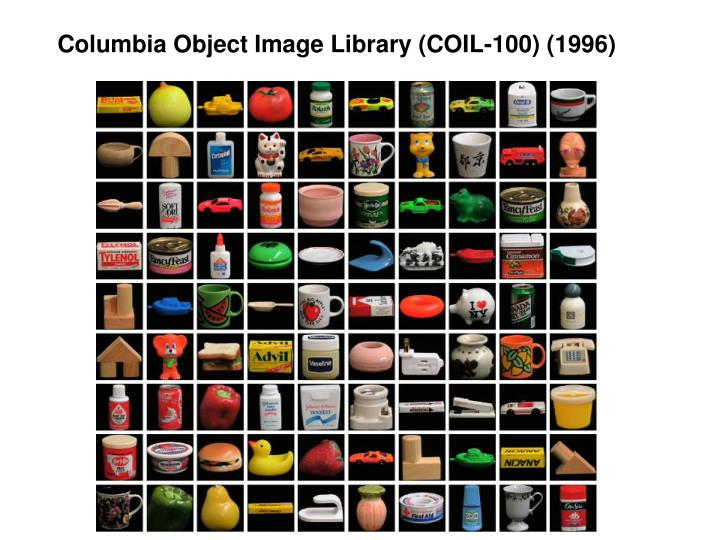 Columbia Object Image Library (COIL-100) (1996)
