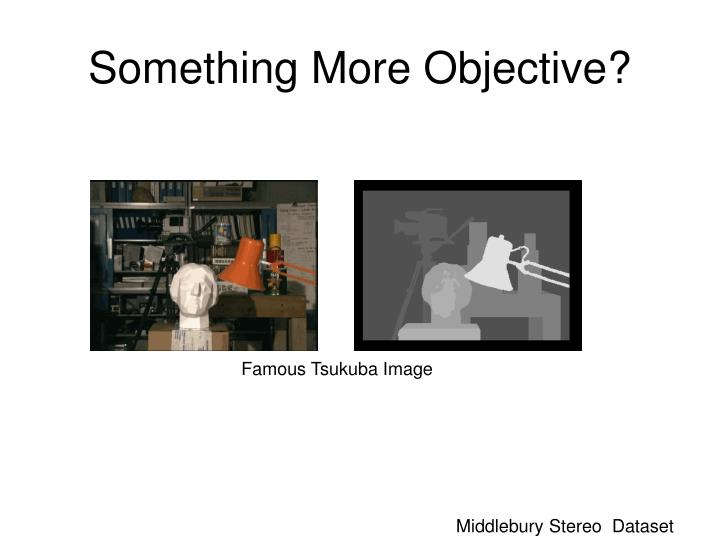 Something More Objective?
