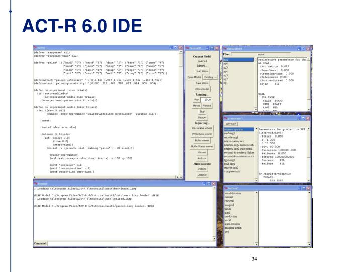 ACT-R 6.0 IDE
