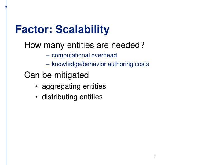 Factor: Scalability