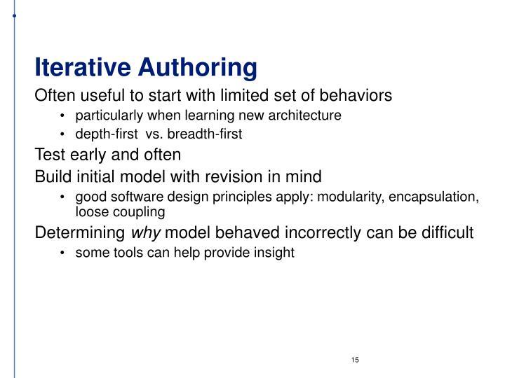 Iterative Authoring