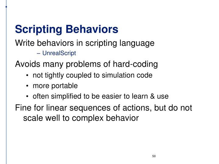 Scripting Behaviors