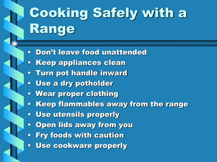 Cooking Safely with a Range