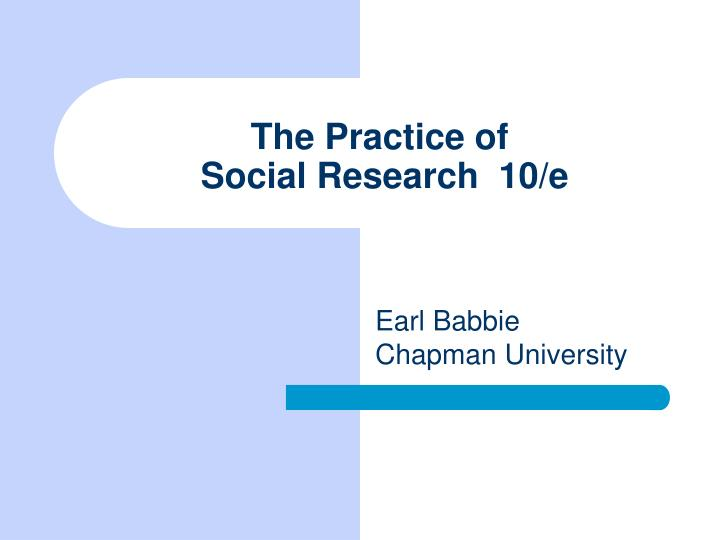 the practice of social research 10 e n.