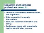 educators and healthcare professionals need to
