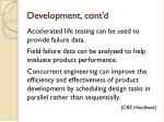 development cont d1