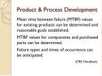 product process development