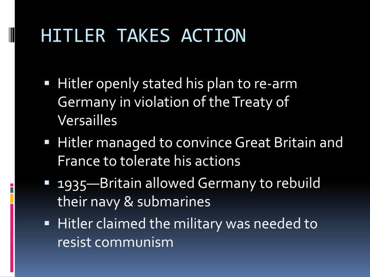 HITLER TAKES ACTION
