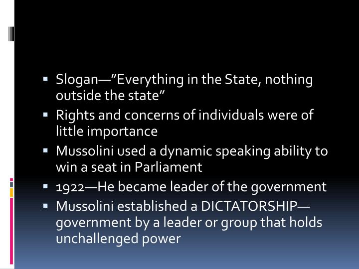 "Slogan—""Everything in the State, nothing outside the state"""