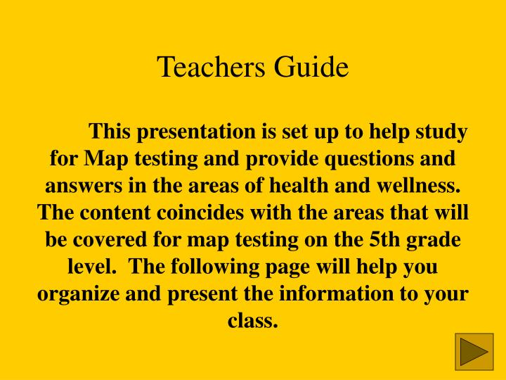 Teachers guide