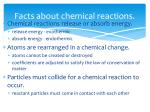 facts about chemical reactions