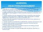 learning objectives assessment