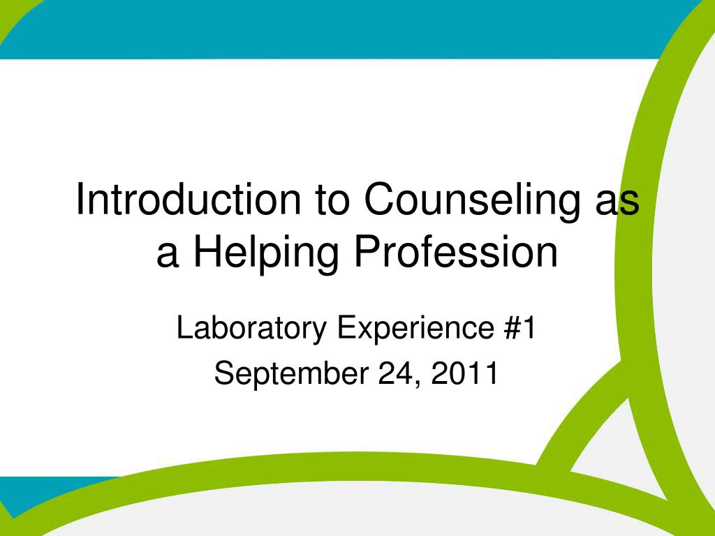 ppt introduction to counseling as a helping profession powerpoint