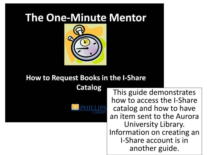 This guide demonstrates how to access the I-Share