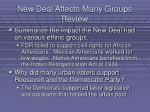new deal affects many groups review