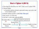ron s cipher 4 rc4