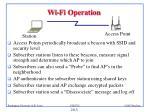 wi fi operation