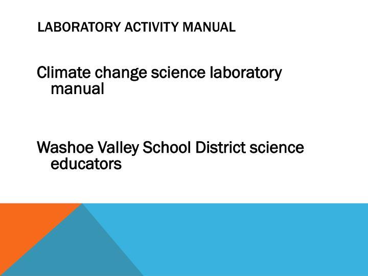 Laboratory activity manual