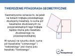 twierdzenie pitagorasa geometrycznie