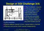 design of sgi challenge 3 4