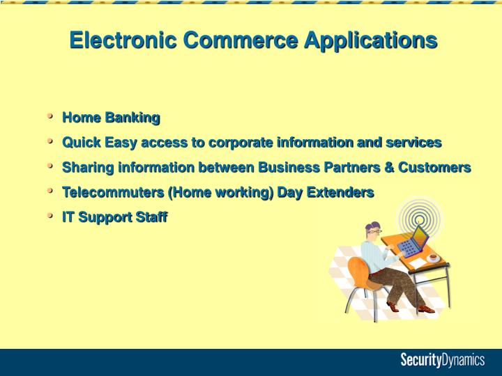 Electronic Commerce Applications