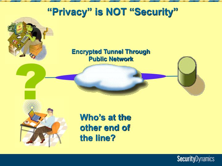 """Privacy"" is NOT ""Security"""