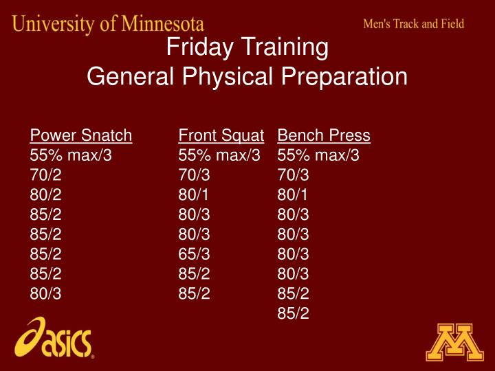 Friday Training