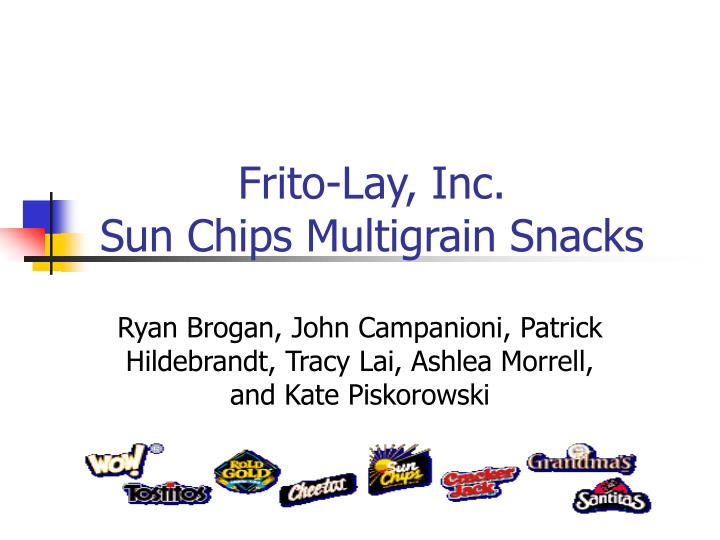 frito lay inc sun chips multigrain snacks strategic marketing plan Strategic marketing problems : cases and comments foundations of strategic marketing frito-lay, inc: sun chips multigrain snacks / roger a.