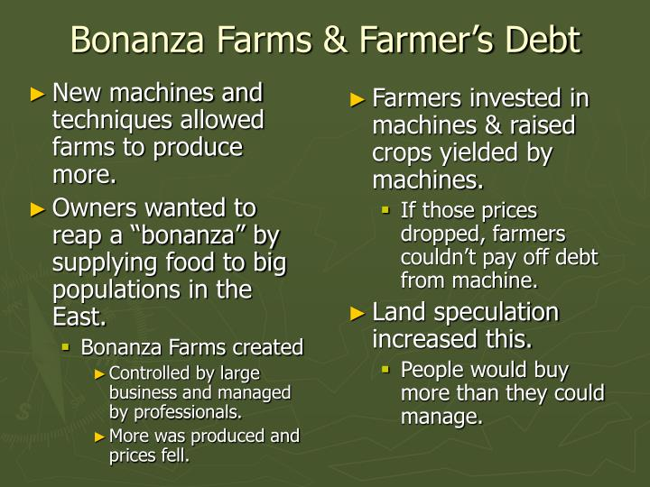 New machines and techniques allowed farms to produce more.