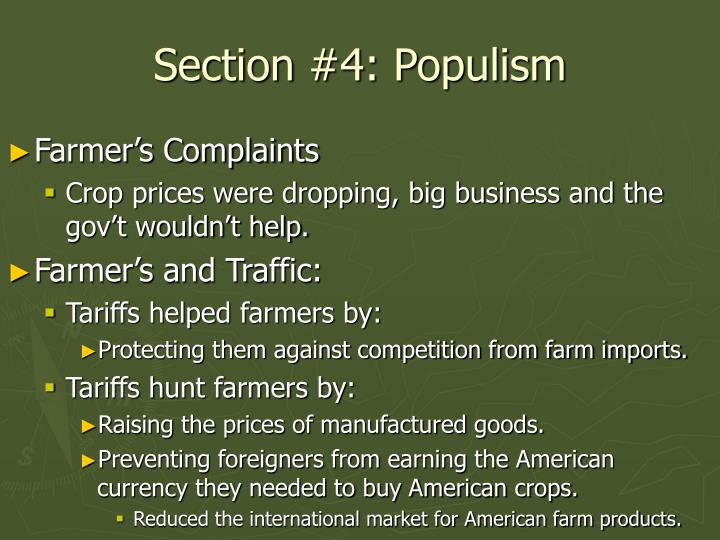 Section #4: Populism