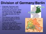 division of germany berlin