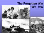 the forgotten war 1950 1953