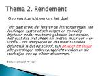 thema 2 r endement