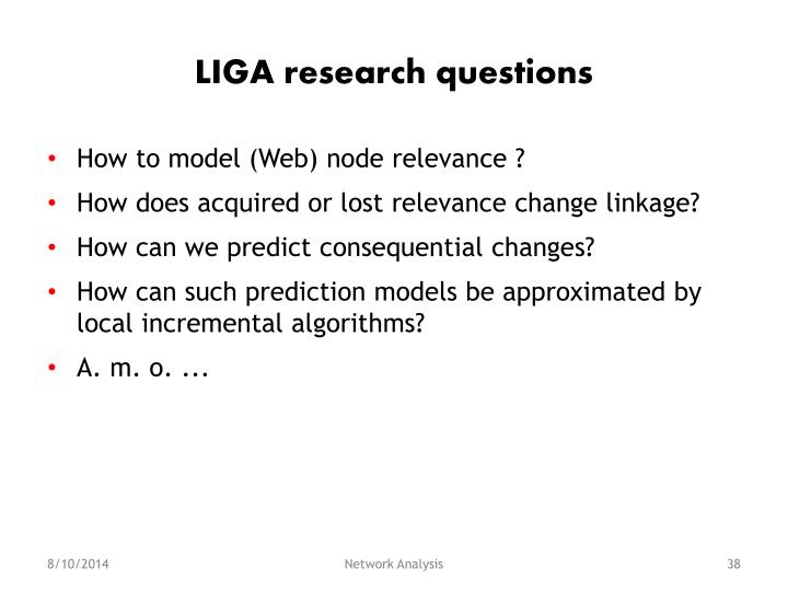 LIGA research questions
