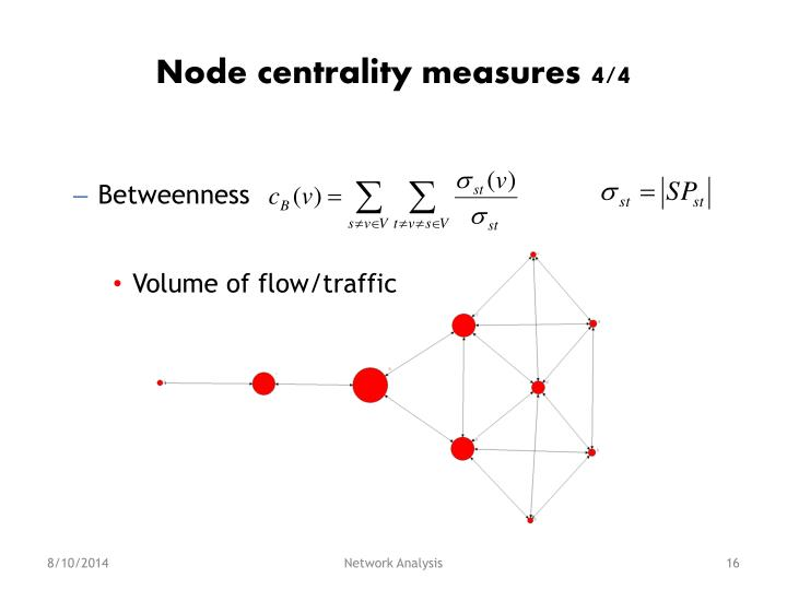 Node centrality measures 4/4