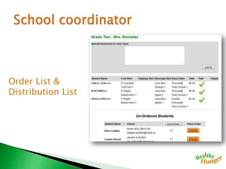 School coordinator