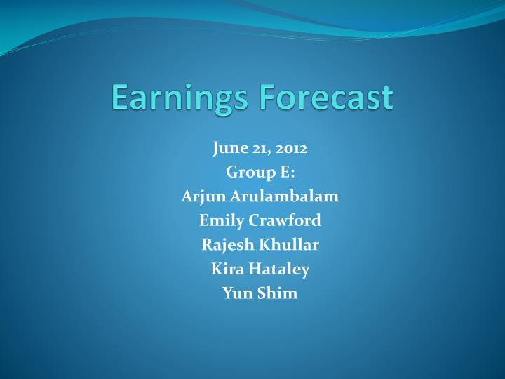 earnings forecast n.