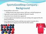 sportsgoodstop company background