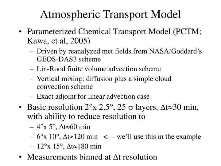 Parameterized Chemical Transport Model (PCTM;  Kawa, et al, 2005)