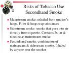 risks of tobacco use secondhand smoke