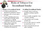 risks of tobacco use secondhand smoke1
