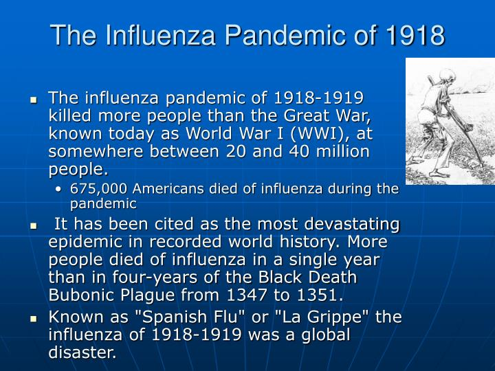 the 1918 spanish influenza pandemic essay The tools you need to write a quality essay or term paper essays related to the great influenza of 1918 1 [the spanish flu pandemic].
